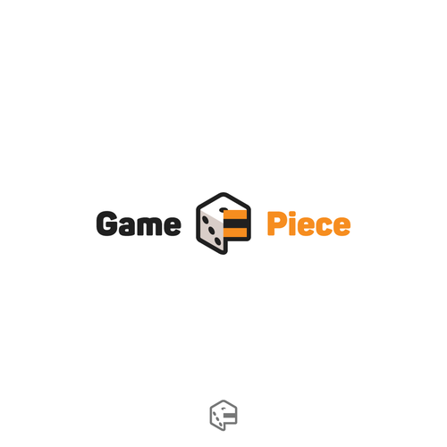 Dice design with the title 'logo design entry'