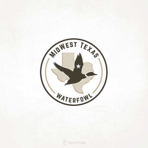 Pink and brown design with the title 'MidWest Texas Waterfowl'