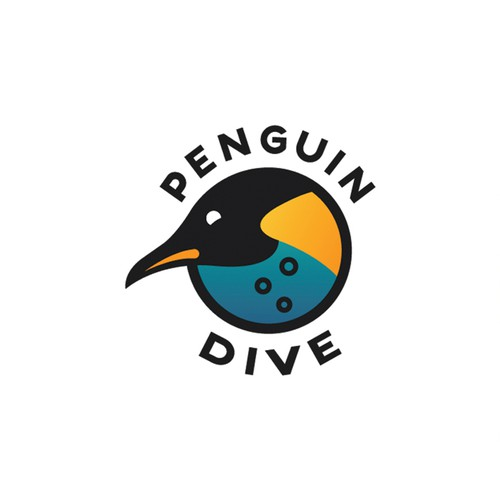 Bubble logo with the title 'Penguin dive'