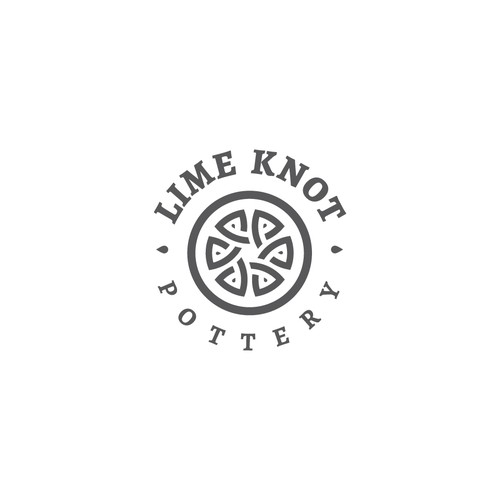 Knot logo with the title 'Pottery Logo'