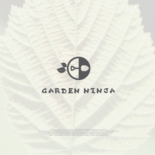 Leaf logo with the title 'Iconic Logo for Garden Ninja'