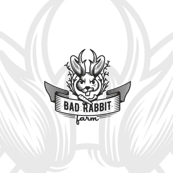 Horn design with the title 'Bad Rabbit Farm'