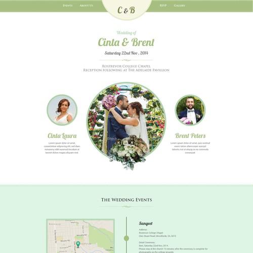 Wedding website with the title 'Wedding Website'