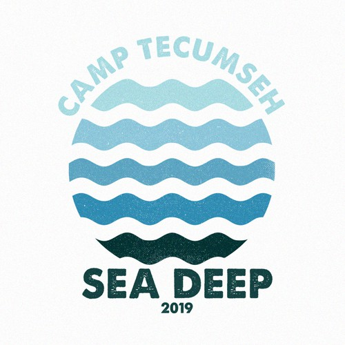 Beach design with the title 'Sea Deep Camp'
