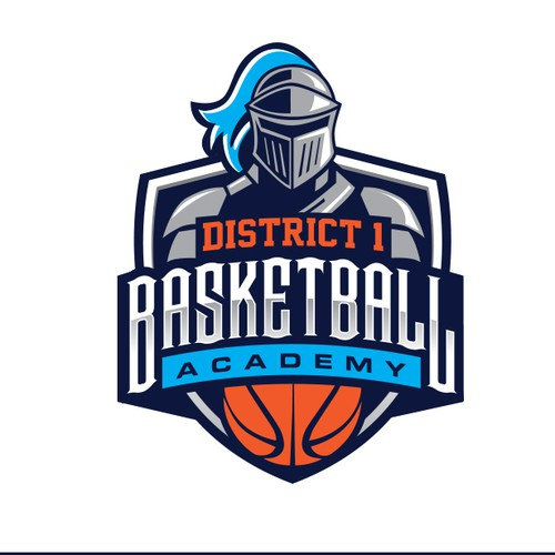 Badge design with the title 'basketball logo'