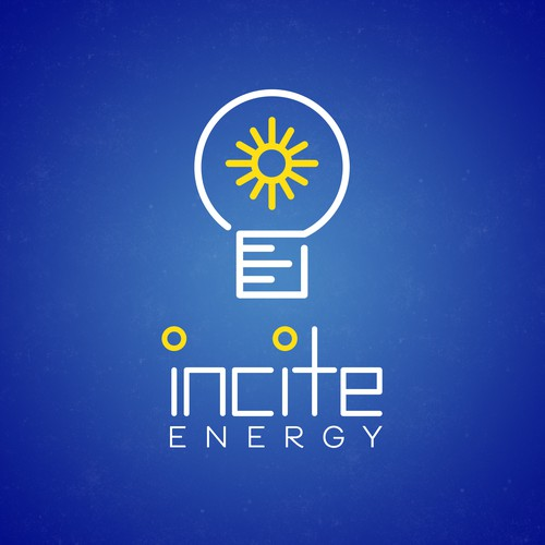 Light bulb logo with the title 'Modern Logo for Energy Company v2'