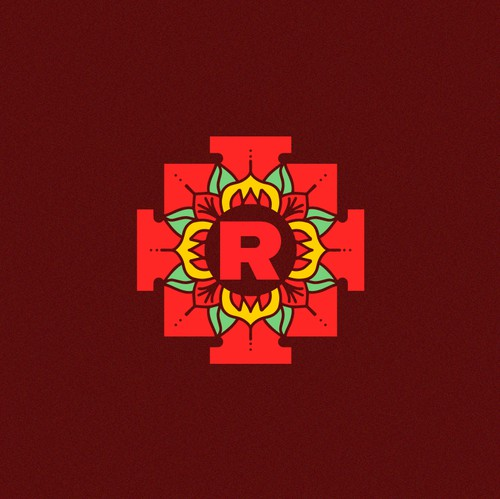 Mandala design with the title 'Yantra Logo'