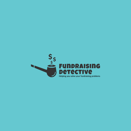 Investigation logo with the title 'fundraising detective'
