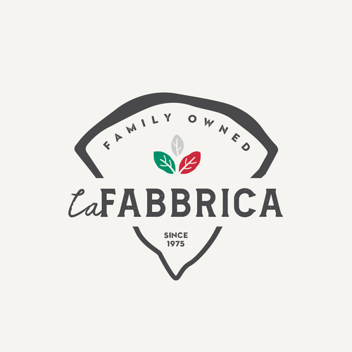 Family business logo with the title 'LaFabbrica Logo Proposal'