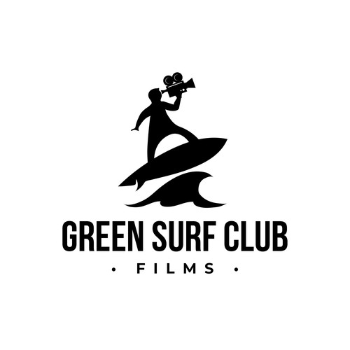 Film industry logo with the title 'Green Surf Club Films'