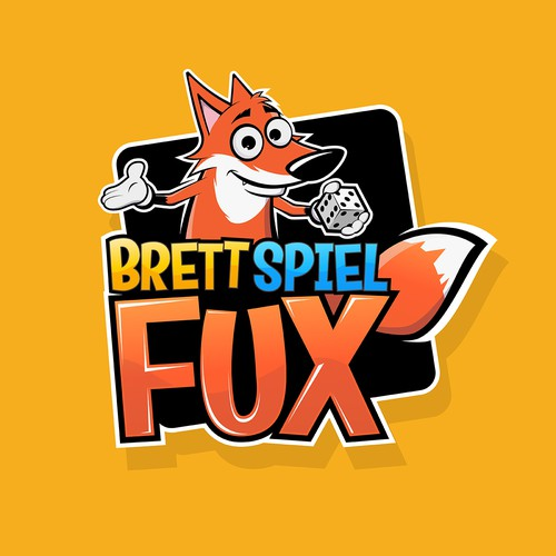 Abstract fox logo with the title 'Fox Logo Concept'