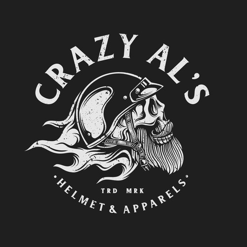 Motorcycle club logo with the title 'Vintage Bold logo for Crazy Al's'