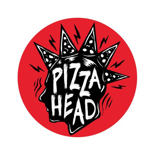 Pop art logo with the title 'Bold pizza logo'