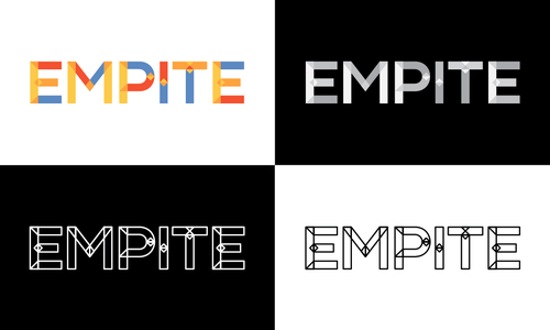Typographic logo with the title 'Empite Logo Concept'