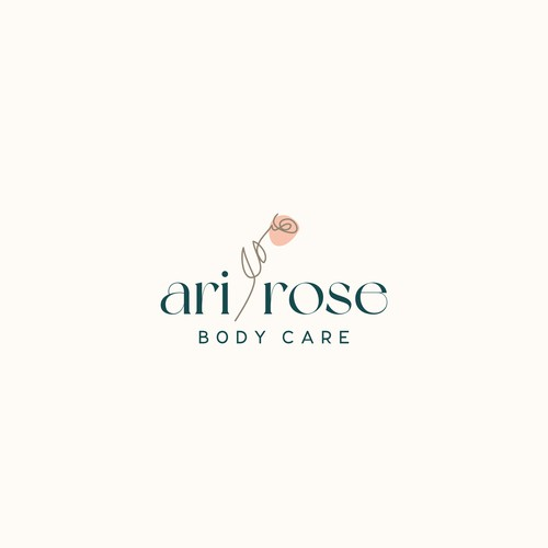 Cosmetics brand with the title 'Rebrand for Ari Rose Body Care'