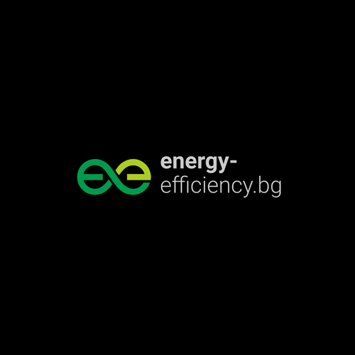 Green energy design with the title 'Energy efficiency logo'