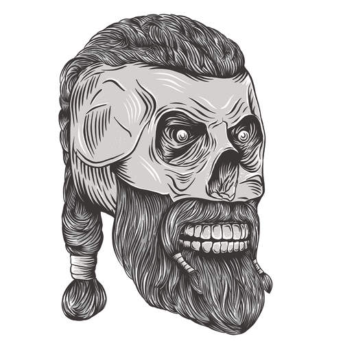 Stunning design with the title 'Viking skull illustration'