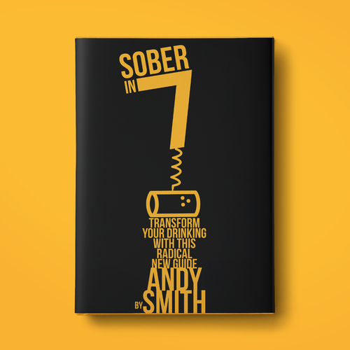 Guide book cover with the title 'Sober in seven book cover'