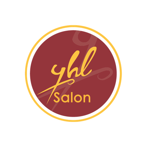Stamp logo with the title 'stylish hair salon'