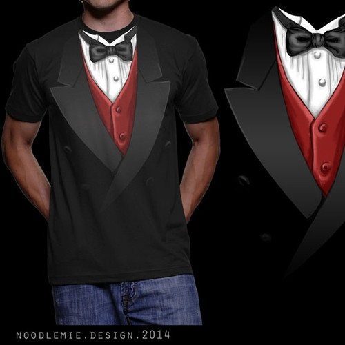 "Fashion t-shirt with the title 'T-Shirt ""Tuxedo"" - multiple Winner possible'"