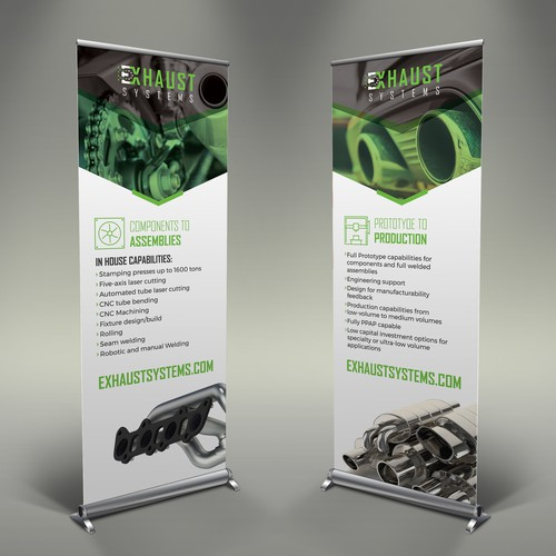 Professional design with the title 'Exhaust Systems Rollup'