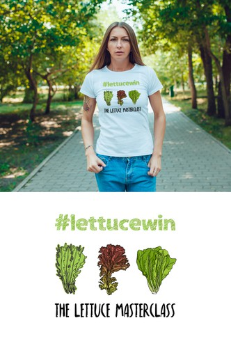 Lettuce design with the title 'T Shirt Design'