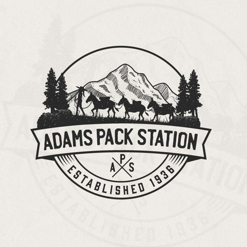 Donkey logo with the title 'Adams Pack Station'