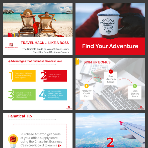 Webinar design with the title 'Sample from a Travel Dedicated Webinar'