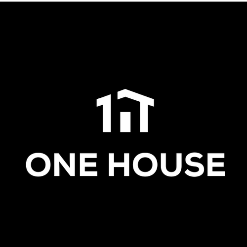 H logo with the title 'one house'