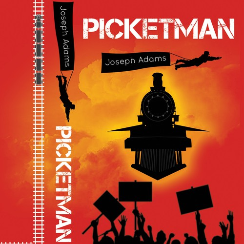 Crowd design with the title 'Picketman book cover'