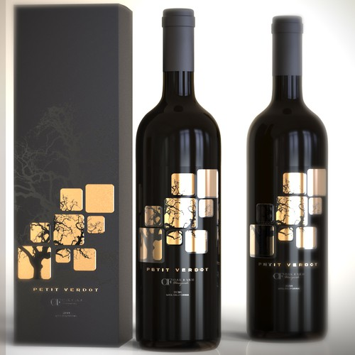 Wine label with the title 'Wine label design'