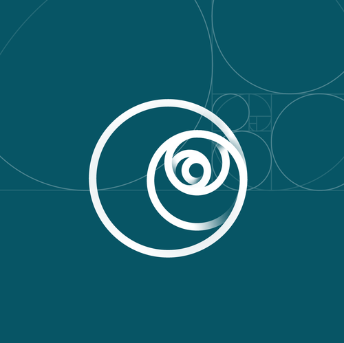 Straight logo with the title 'Golden ratio logo design for sale'