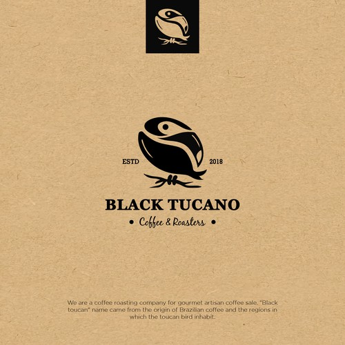 Toucan logo with the title 'Black Tucano'