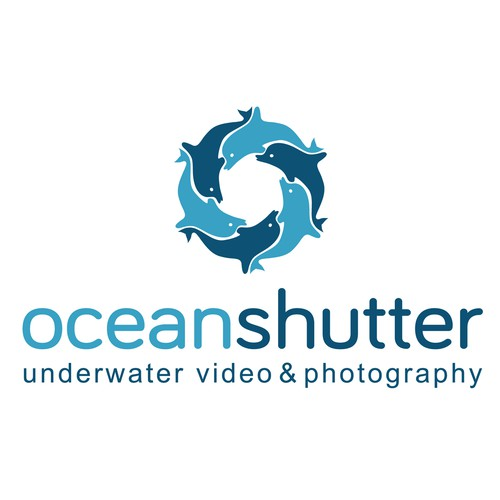 Aperture logo with the title 'Create a Logo for Ocean Video and Photography Website'