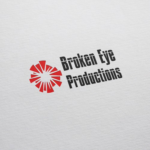 Broken design with the title 'Broken Eye Productions'