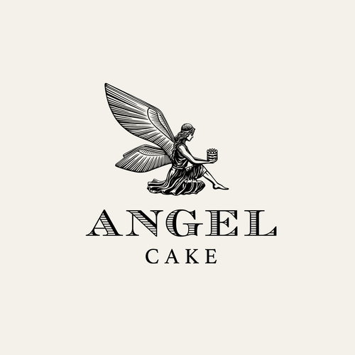 Sweet logo with the title 'Angel Cake - logo design'