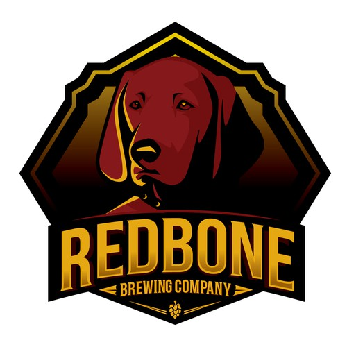 Brewery logo with the title 'Redbone Brewing Co.'