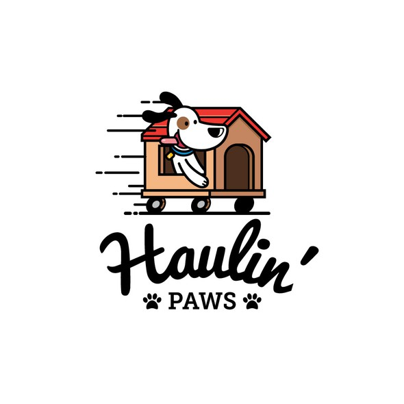 Moving logo with the title 'Logo for Pet Transport Company'