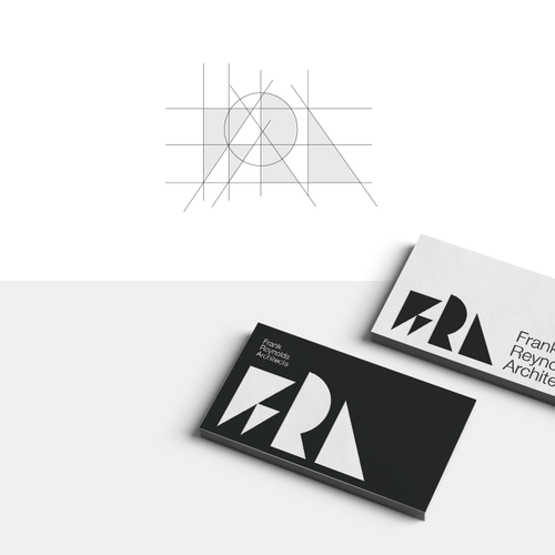 Interior design brand with the title 'FRA, Frank Reynolds Architects Logo and Brand Identity Design'