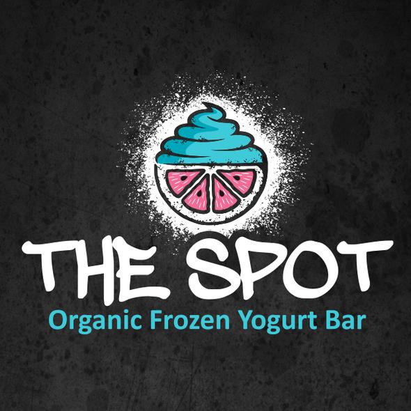 Frozen yogurt design with the title 'The Spot'