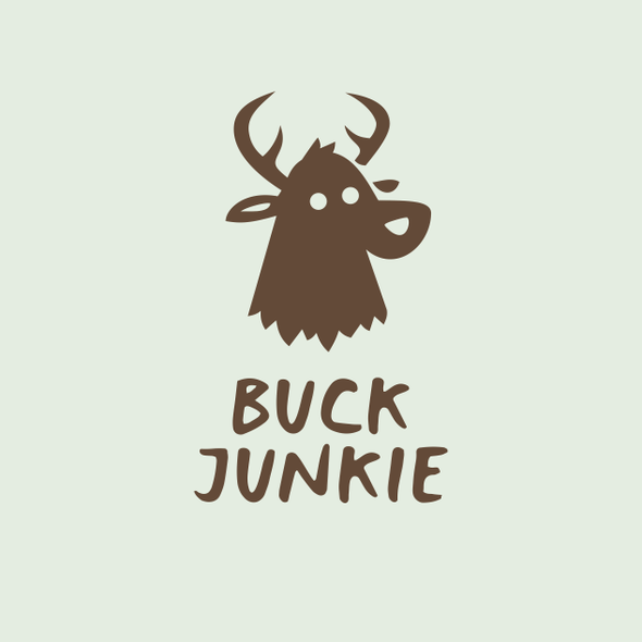 Funny brand with the title 'BUCK JUNKIE'