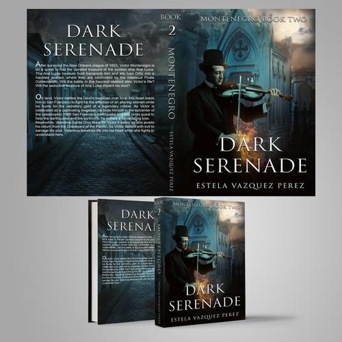 Cemetery design with the title 'Dark Serenade'