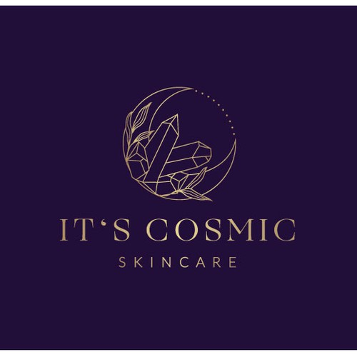 Crystals logo with the title 'It's Cosmic Skincare'