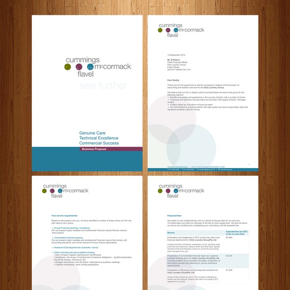 Proposal design with the title 'MS Word Business Proposal'