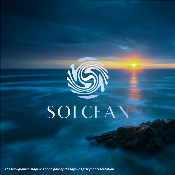 Aquatic logo with the title 'SOLCEAN'