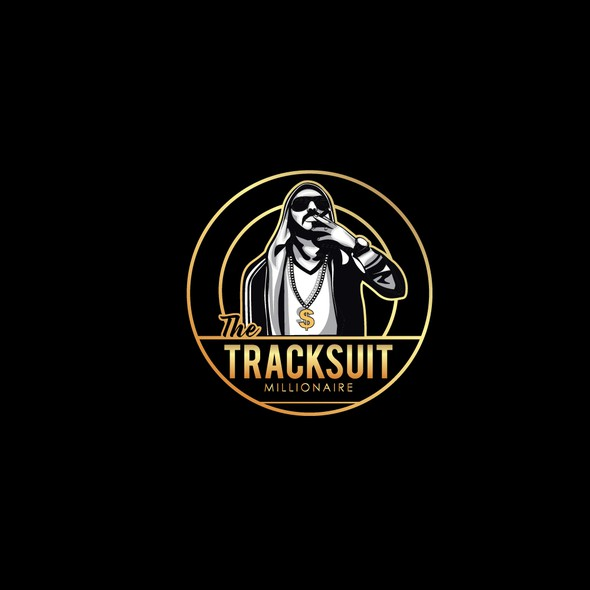 Millionaire logo with the title 'The Tracksuit Millionaire'