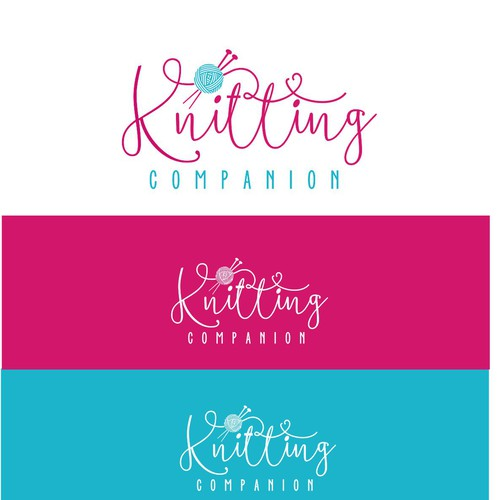 Knitting logo with the title 'Knitting '