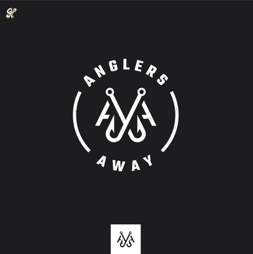 Double logo with the title 'Anglers Away Logo Concept'