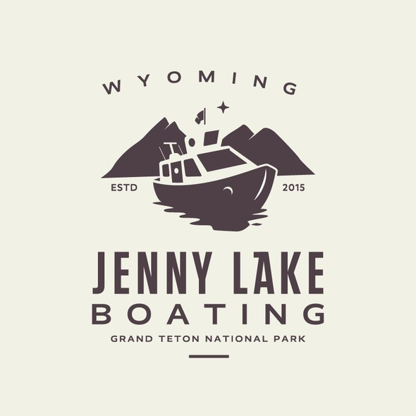 Ferry logo with the title 'Jenny Lake Baoting'