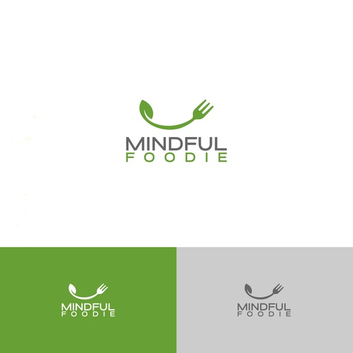 Plant brand with the title 'Healthy Food Logo'